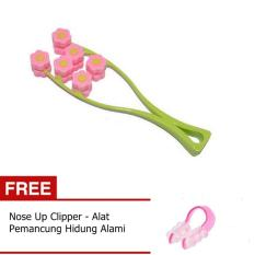 Lucky Flower Face Up Roller Pemijat Wajah Japan Technology 1 Set Gratis .