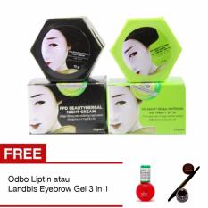 Magic Glossy Paket Day Cream Night Cream Original Free Odbo Liptint atau Free Landbis Eyebrow Gel 3 in 1