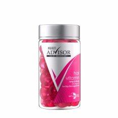 Makarizo Advisor Hair Vitamin Rambut Long and Strong - Kapsul 1 mL (50 pcs)