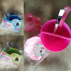 Mangkok Masker Wajah - pink/hijau