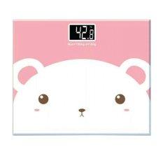 Marlow Jean Timbangan Badan Mini Digital Desain Kartun 180Kg - Putih Pink