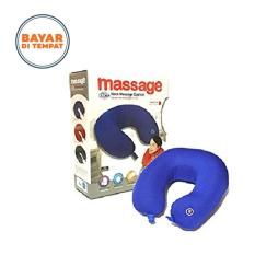 Massage Kaihen Neck Messager Travel Pillow Bantal Pijat Leher - Biru