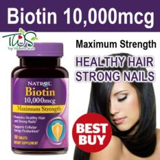 Natrol Biotin 10000 mg 100 Tablet Hair, Nail, Skin