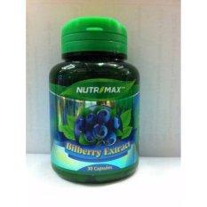 Nutrimax Bilberry 10000 Mg 30's - Vitamin Mata Minus, Katarak, Glaukoma, Infeksi Mata