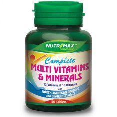 Nutrimax Complete Multvitamin+Ginseng 30s