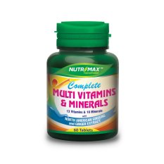 Nutrimax Complete Multvitamin+Ginseng 60s