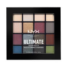 NYX Professional Makeup Ultimate Shadow Palette Smokey & Highlight - Palet Eyeshadow Kombinasi Warna Lengkap