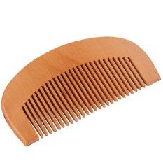 OH alam lebar gigi sisir kayu persik kayu tanpa statis Kesehatan Rambut sisir pijat kayu