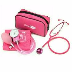Onemed Tensimeter Aneroid Tensi 200 + Stetoskop - Pink