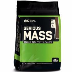 Optimum Nutrition Serious Mass 2 Lb Eceran Rasa Coklat