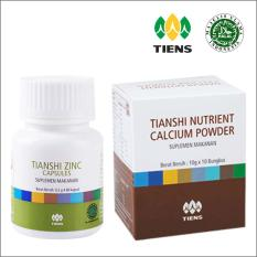 Paket PROMO - Tiens Peninggi Badan Calcium Powder + Tiens Zinc Capsules