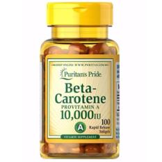 Puritan Pride Beta-Carotene 10000 IU - 100 softgels