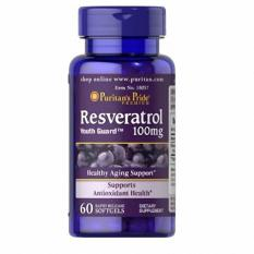 Puritan Pride Resveratrol Youth Guard 100 mg - 60 Softgels