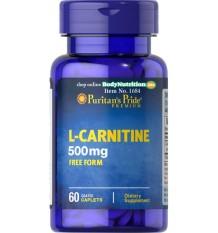 Puritan's Pride L-Carnitine 500 mg - 60 Caplets