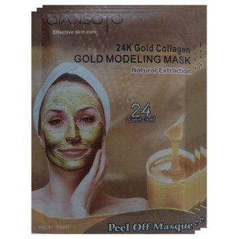 Qiansoto Masker Wajah Alami Gold 3pcs