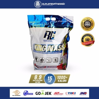 Ronnie Coleman King Mass Whey Protein 15 lbs Rasa Strawberry