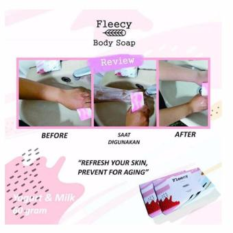 Sabun Pemutih By Fleecy - Whitening Soap Fleecy - Yogurt