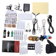 Solong Complete Tattoo Kit 10 Wrap Coils Guns Machine Power Supply - EU PLUG (Silver) - intl