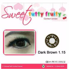 Sweet Tutty Fruity Softlens - Dark Brown 1.15 + Gratis Lenscase