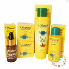 Temulawak V Natural - Paket Kompilt Temulawak V Natural ( Cream Siang, Malam , Toner, Alcohol , dan Serum ) Original