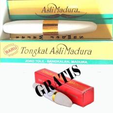 Tongkat Ajimat Madura Joko Tole Berkhasiat + Free Tongkat Ajimat Spesial - Putih
