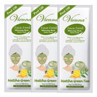 Vienna Peel Off Whitening Mask - Matcha 15ml (3Pcs)