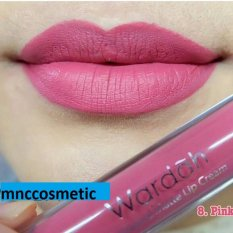 Wardah Exclusive Matte Lip Cream 08 Pinkcredible