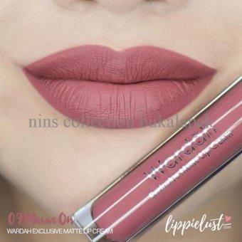 Wardah Exclusive Matte Lip Cream - 09 Mauve on   Lazada
