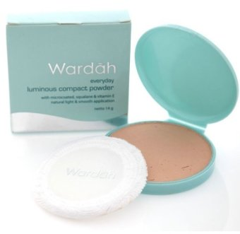 Wardah Luminous Compact Powder Light Beige | Lazada Indonesia