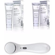 Wardah Paket White Secret Ion Face Massager