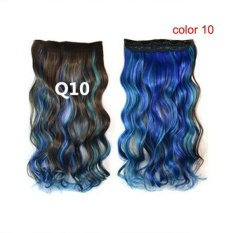 Women Long Curly Wavy Hairpiece Wigs with Hair Clip - intl