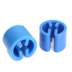50x New Plastic Snap Retail Clothes Hanger Size Markers Tags Sign Label Cubes Blue - Intl