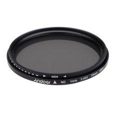 55mm ND Fader Neutral Density Adjustable ND2 To ND400 Variable Filter For Canon Nikon DSLR Camera (Intl)