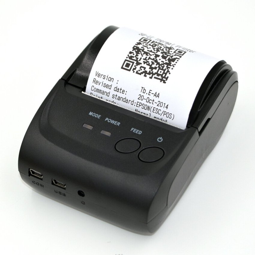 58mm Mini Portable Thermal Printer Receipt for Windows Android with Bluetooth 4.0 4.3