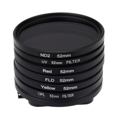 6 In 1 52mm ND2 Lens Filter + UV Lens Filter + Red Filter + FLD Filter + Yellow Filter + CPL Filter + Filter Adapter Ring For GoPro HERO4.3 + (Intl)