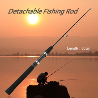 0.8m 2 Sections Solid Fishing Rod Ice Fishing Rod Boat Rod Pole Fishing Tackle Fishing Accessory - intl