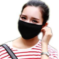 10 buah/banyak Unisex hitam masker mulut kain anti debu pelindung Double Kpop bersepeda telinga lingkaran hangat wajah masker Protetor dicuci (hitam) - ต่าง ประเทศ