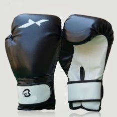 1pair Sports Fighting Golves MMA Boxing Glove PU Leather with EVA Lining for Training Competition - intl