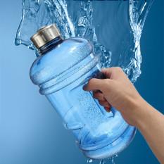 2.2 liter (setengah galon) 1814.37 G BPA-gratis botol air besar ruang olahraga pelatihan pegangan