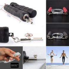 2,8 m disesuaikan kecepatan lompat tali kawat baja kecepatan melewatkan latihan Gym (hitam) - International
