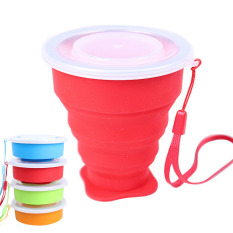 360DSC Portable Folding Collapsible Silicone Cup Pop Up Cup Outdoor Travel Camping Hiking Home Mug with