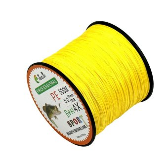 4 Strands Super Strong PE Braided Fishing Line 500M White 0.16mm18lbs - intl