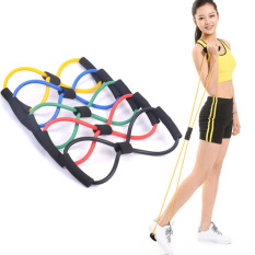 8 ketegangan tali dada berbentuk elastis menggunakan mesin Expander Yoga pilates sabuk Kebugaran