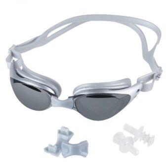 Adult Non-Fogging Anti UV Swim Eyeglass Swimming Goggles Kaca Mata Renang