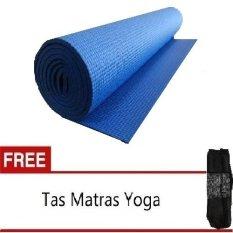 Anekaimportdotcom Matras Yoga - Yoga Mat - Pilates Mat - Biru + Gratis Yoga Bag