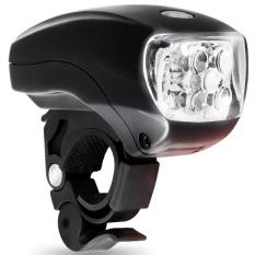 Bersepeda sepeda sangat cerah 5 LED senter kepala depan lampu cahaya hitam