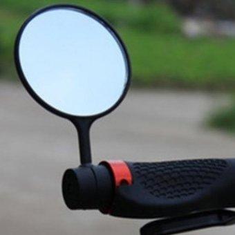 Bersepeda Sepeda Stang Fleksibel Aman Pemandangan Belakang Kaca Spion 2 Buah
