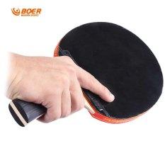 BOER S5 Tenis Meja raket jerawat di kelelawar karet untuk mengetik cepat menyerang pemain (International)