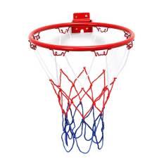 Bola basket terpasang di dinding tergantung tujuan ring velg logam barang Olahraga jaring 32 cm