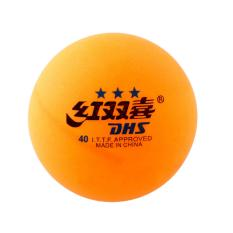 DHS ITTF Approved 3-Star 40mm (Isi 3, Orange) | Bola Tenis Meja